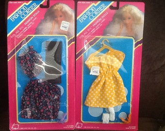 2 barbie size outfits - fits all 11/12 in dolls clothing accessories