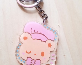 Winking Chef Bear Kawaii Acrylic Charm