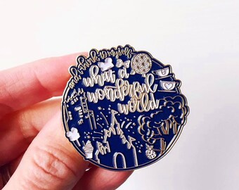 Wonderful World Enamel Pin