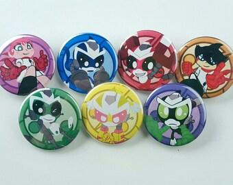 """Super Robot Monkey Team Hyperforce Go! 1.5"""" Buttons"""