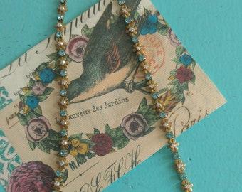 Soaring bird brass necklace