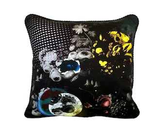 Pop Garden Pillow - Black