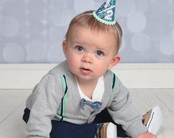 Half Birthday Boy  || Boy Birthday Party Hat || Glitter Cake Smash || 1/2 Birthday Smash Cake || Little Blue Olive