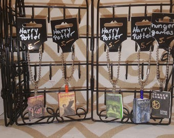 Harry Potter  Hunger Games clay keychain