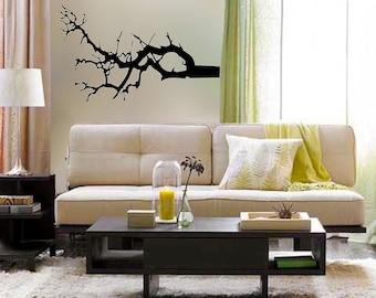 winter tree branch vinyl Wall DECAL- interior design, sticker art, room, home and business decor