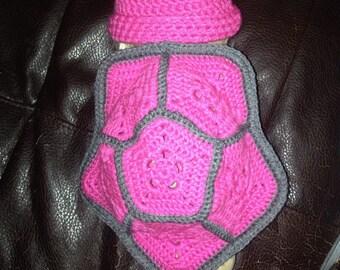 Newborn Turtle Photoprop - Pink & Grey