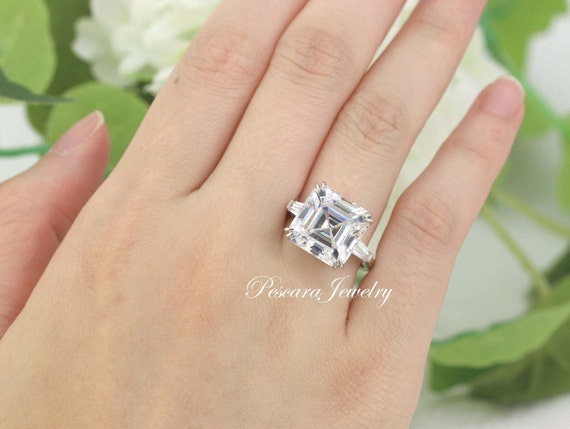 sapphire engagement and next asscher ring wedding cut rings view diamond product ts