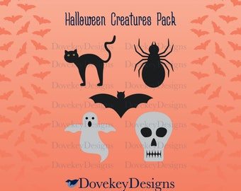Halloween Creatures Pack for Cricut/Silhouette (svg)