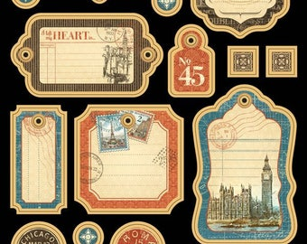 Graphic 45 Cityscapes Chipboard 1 Collection