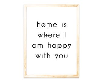 Posters, home, happy, Nordic, saying, quote