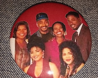 Living Single tv show button 2-1/4 inch pinback button pin pins pingame badge badges Queen Latifah