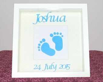 Personalised Baby Birth Announcement, Christening Gift, Baby Boy Girl, New Baby, Baby Feet, New Parents, Nursery, Wall Art