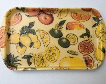 Retro Fiberglass Citrus Fruit Tray by REXILITE Eubanks