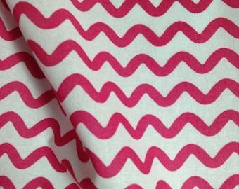 SALE - One Half Yard  of Fabric - Ric Rac Stripe Pink