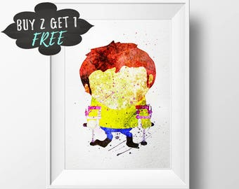 South Park Art Print South Park Poster, Jimmy Wall Art Nursery Decor Printable Watercolor Instant Download, Comedy Central South Park Theme