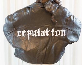 Taylor Swift Reputation Vintage Leather Jacket