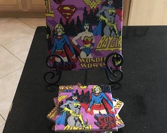 The Super Women of DC Comics Trivet and Coasters set