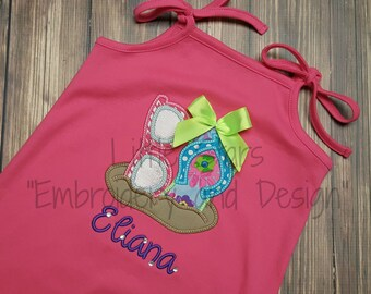 Personalized Rompers - Sunglasses and Flip Flop or Your choice of design
