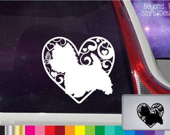 Westie Love Vinyl Decal