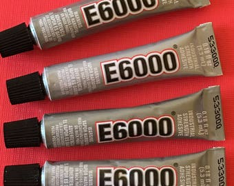 2 E6000 Glue Adhesive Industrial Strength Craft Mini Tube .18oz. for magnets jewelry craft making bead