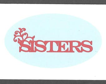 Sisters Note Card with Envelope Thinking of You Card Personal Note Card Family Greeting Card Sister Blank Card Friendship Card GGM043