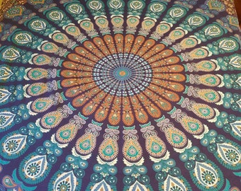 Mandala bedding, Mandala tapestry, wall tapestries, Queen size, Boho Decor, hippie wall decor, wall tapestry, mothers day gift