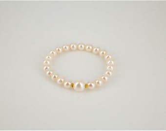 Freshwater Cultured Pearl Stretch Bracelet