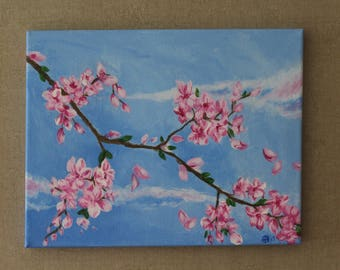 Cherry Blossoms, Original Acrylic painting