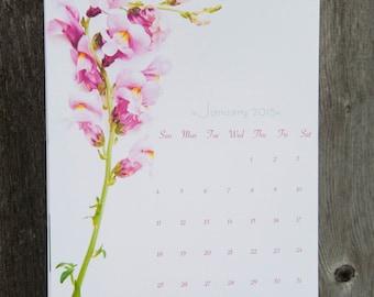 2018 Flower Calendar - Large Wall Calendar 2018 - Calendar 2017-2018