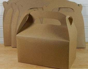 Kraft Gable Boxes 10, Gifts, Party, Paper, Holiday Packaging