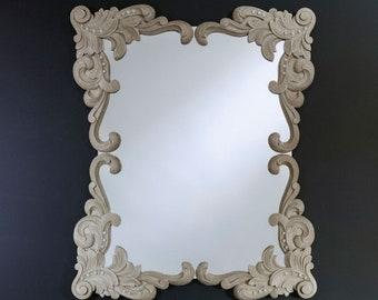 Miroir ANNA BEIGE Gothique Rectangulaire Dorée 92x110 cm