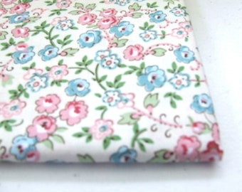 "Pink and Blue Floral fabric from ""Quilting Treasures"""