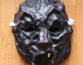 Purple Demon Mask | Paper Mache | Halloween Costume | Halloween Mask | Paper Mask | & Troll Mask Paper Mache Halloween Costume Halloween Mask