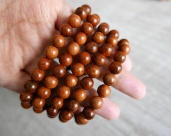 Prayer Bracelet Mala buddha 108 wenge wood