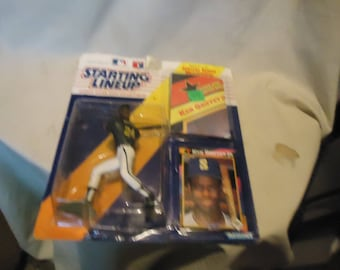 Vintage 1992 Kenner Starting Lineup Ken Griffey Jr Action Figure With Card and Poster In Sealed Package, collectable