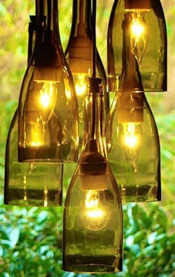 Wine bottle light