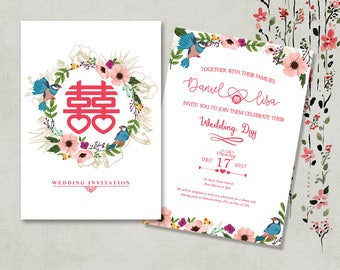 Chinese invitations Etsy