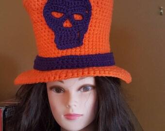Steam Punk, Halloween, top hat, orange, black,