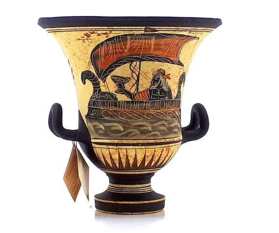 Ancient Greek Vase Krater Pottery Goddess Aphrodite God