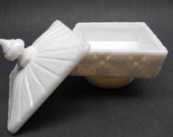 Vintage Milk Glass Candy  Dish