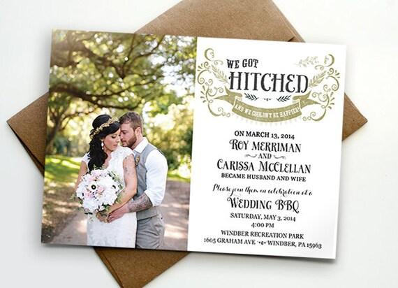Post Wedding Invitations Reception: Post Wedding Reception Invitation / We Got Hitched
