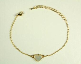 Mother of pearl heart bracelet.