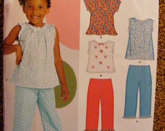 Child's Shirt / Top / Pants Uncut New Look Sewing Pattern 6883 Size 3 4 5 6 7 8