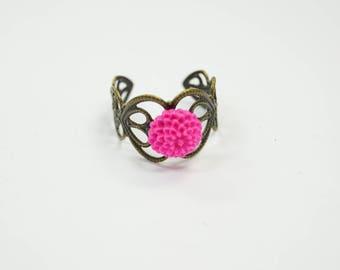 Ring Flower pink