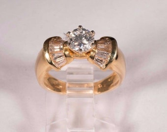 14K Yellow Gold app. 1.5ct. tw. Diamond Ring, size 6.5