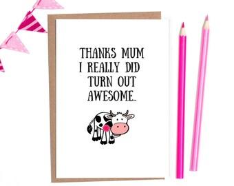 mothers day card funny, funny mothers day card, mum card, mothers day card unique, birthday card mum, funny mum birthday card, mum card