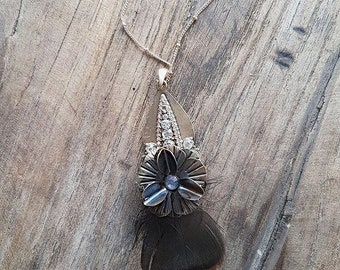 Flower Feather Necklace