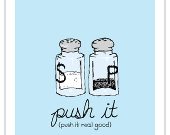 "Salt and Pepper Push It Print - 8""x10"""