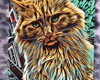 Majestic Fence Kitty