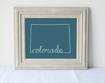 Printable Colorado State Art Print 8x10 Digital Wall Art Gift